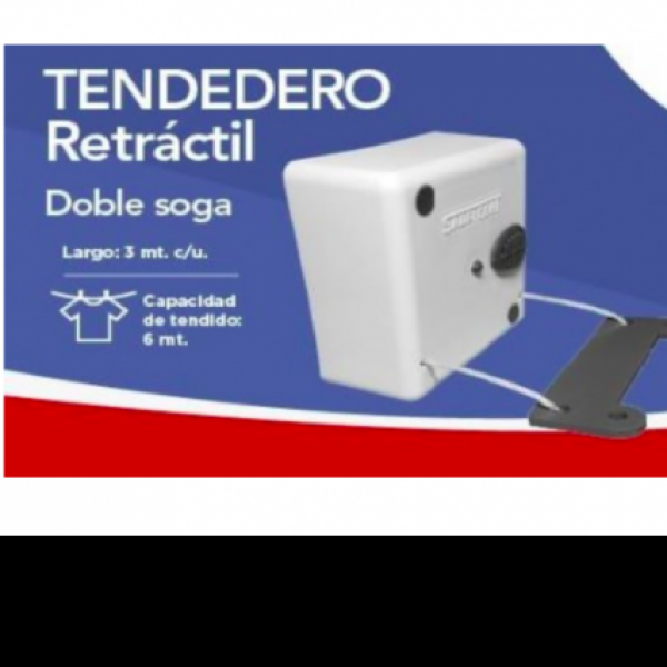 TENDEDERO RETRACTIL DOBLE SOGA