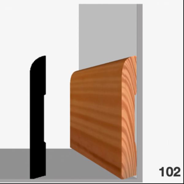 Moldura pino 102 (zócalo)