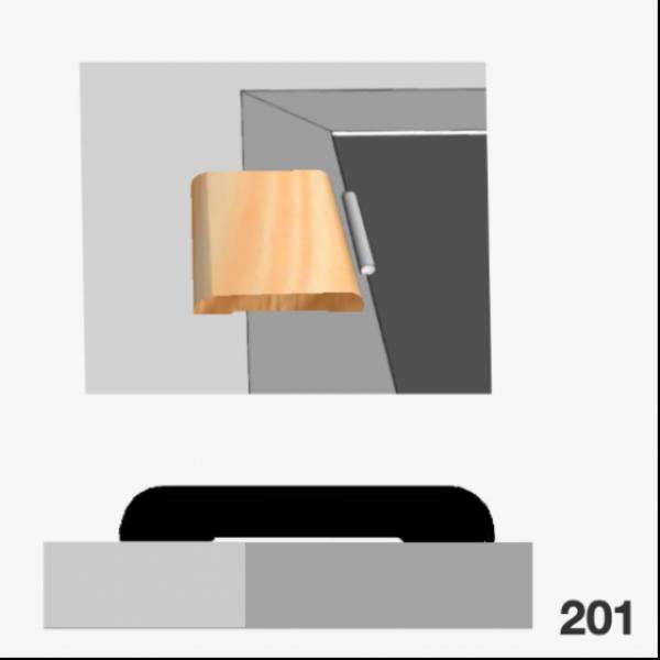 Moldura pino 201 (contramarco)