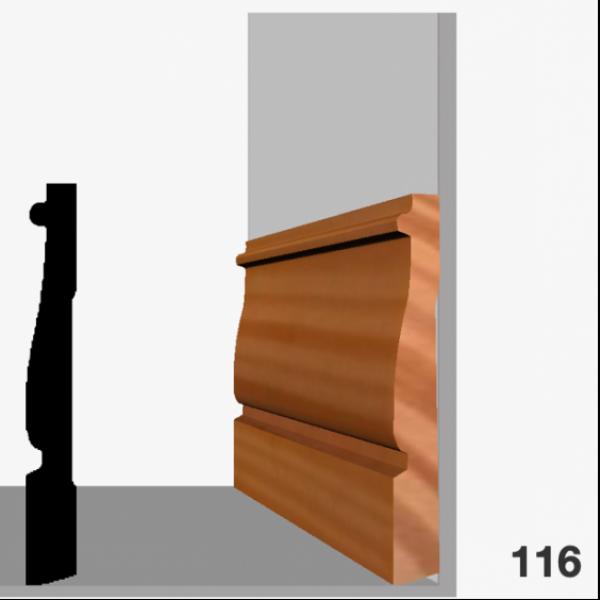 Moldura pino 116 (zócalo)