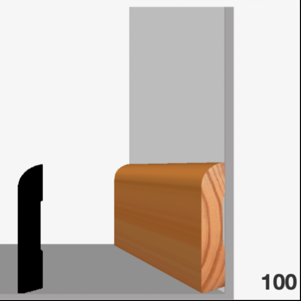 Moldura pino (zócalo) 100
