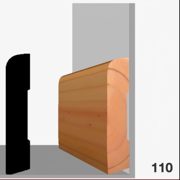 Moldura pino 110 (zócalo)