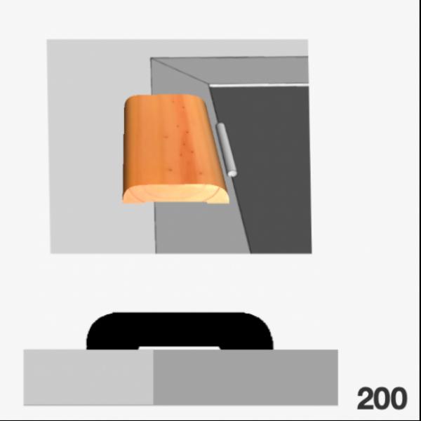 Moldura pino 200 (contramarco)