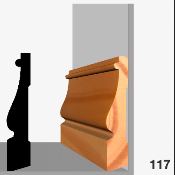 Moldura pino 117 (zócalo)