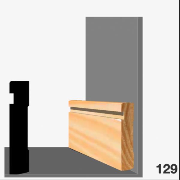 Moldura pino 129 (zócalo)