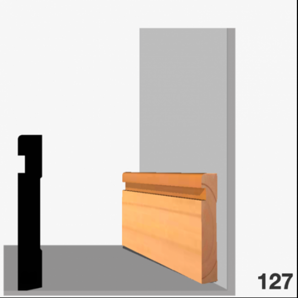 Moldura pino 127 (zócalo)