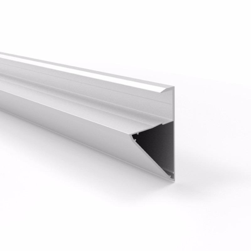 Perfil Soporte Estante 18 mm Aluminio