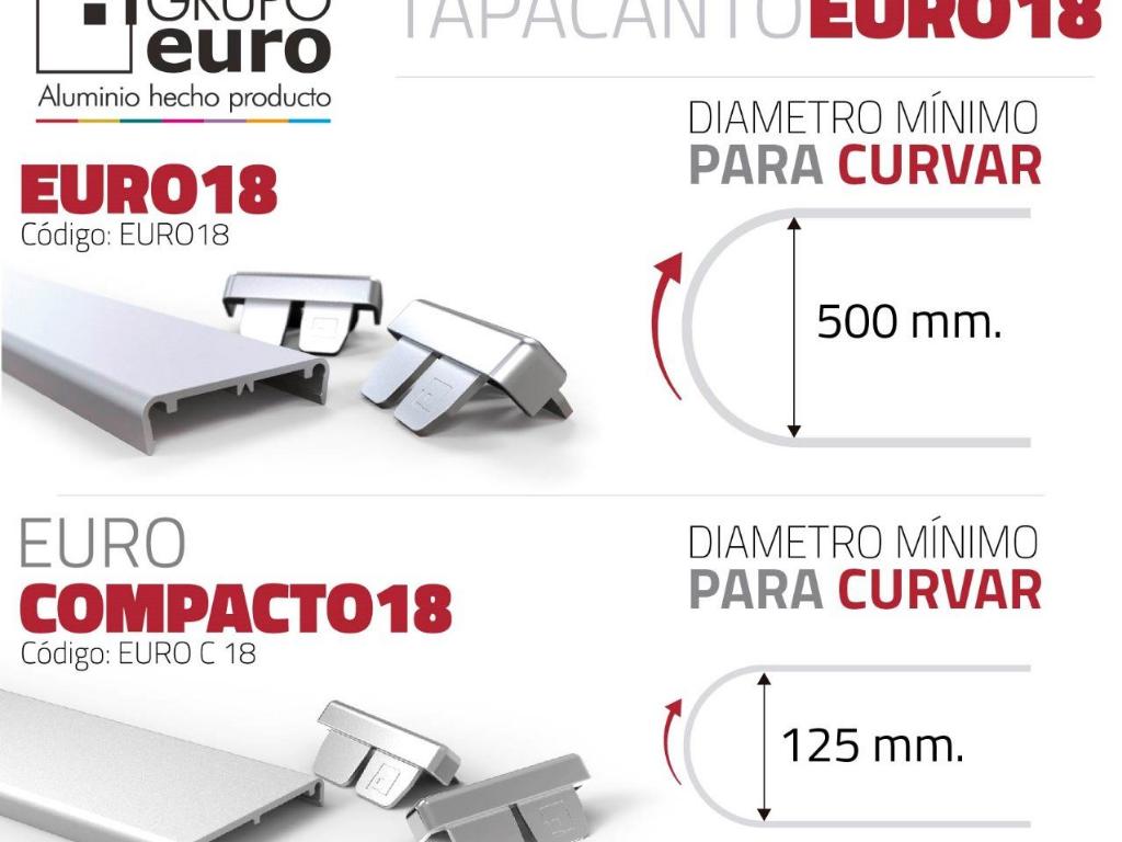 Instructivo colocación tapacanto de Aluminio curvo